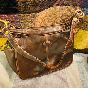Rosetti New York Brown distressed shoulder bag